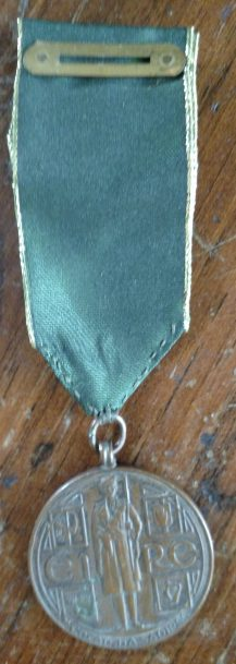 The service medal that was awarded to Daniel Manley.